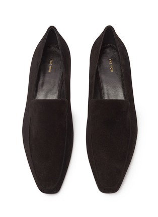 Detail View - Click To Enlarge - THE ROW - 'Minimal' suede loafers