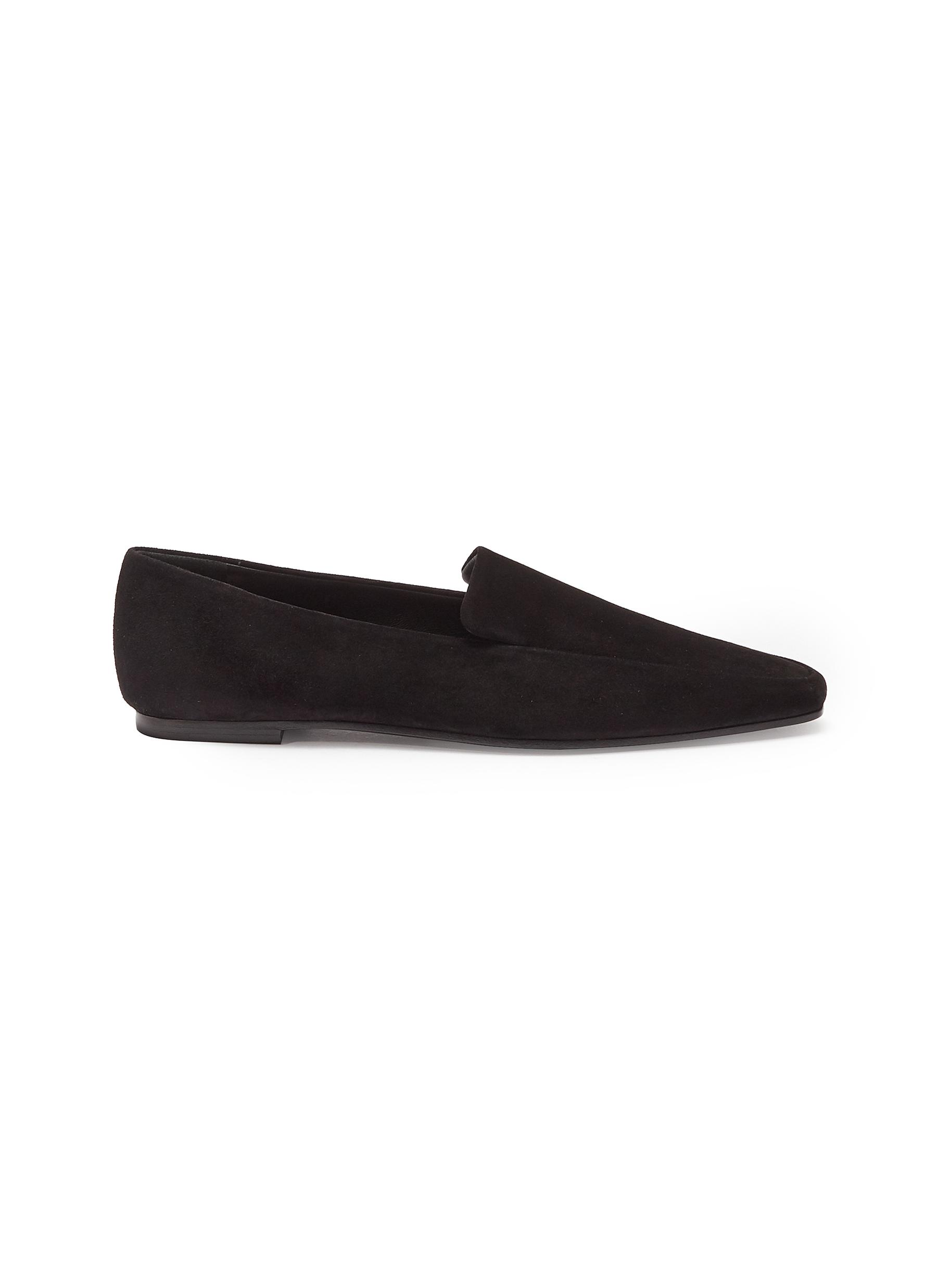 The Row Flats Minimal suede loafers