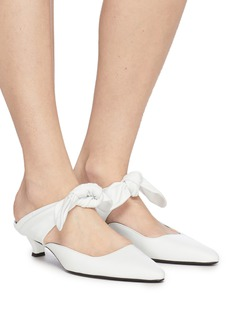 The Row 'Coco' bow tie leather mules