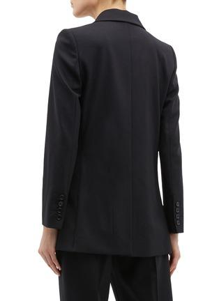 Back View - Click To Enlarge - Oscar de la Renta - Metallic maple leaf brooch blazer