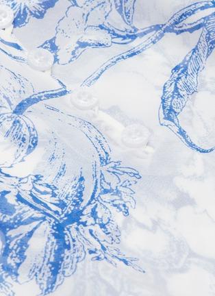 - Oscar de la Renta - Floral toile print silk chiffon shirt