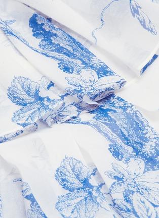 - OSCAR DE LA RENTA - Floral toile print pleated tiered silk chiffon skirt