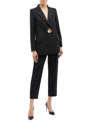 Figure View - Click To Enlarge - Oscar de la Renta - Cropped wool suiting pants