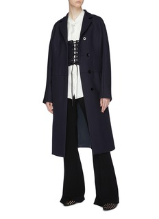 Jil Sander Corset panel darted waist virgin wool twill coat