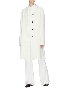 Jil Sander Two-in-one cotton-silk blend gilet and coat