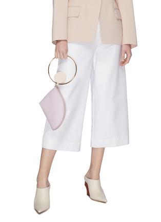 Figure View - Click To Enlarge - ROKSANDA - 'Eartha' ring handle small leather bag