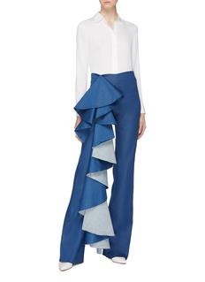 Leal Daccarett 'Tralala' ruffle drape jeans