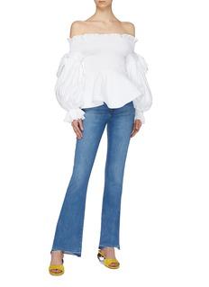 Leal Daccarett 'Murano' blouson sleeve smocked off-shoulder peplum top
