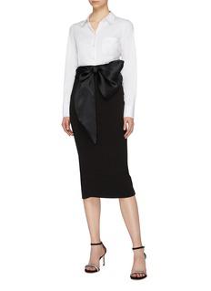 Leal Daccarett 'Santiago' satin bow tie waist skirt