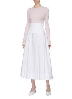 Gabriela Hearst 'Browning' contrast trim cashmere-silk rib knit sweater