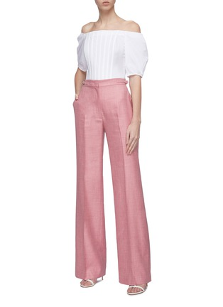 Figure View - Click To Enlarge - GABRIELA HEARST - 'Hurley' puff sleeve darted off-shoulder top