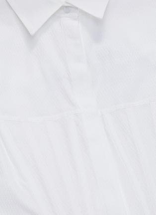 - Gabriela Hearst - 'Eugene' darted panel flared shirt dress