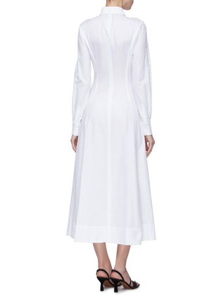 Back View - Click To Enlarge - Gabriela Hearst - 'Eugene' darted panel flared shirt dress
