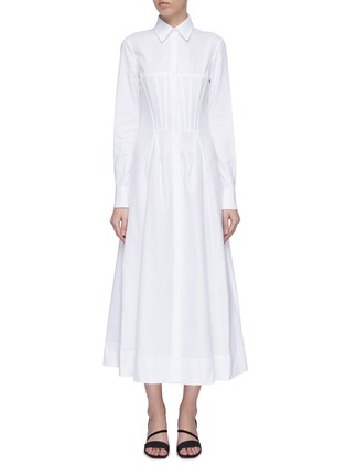 Main View - Click To Enlarge - Gabriela Hearst - 'Eugene' darted panel flared shirt dress