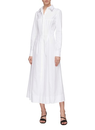 Figure View - Click To Enlarge - Gabriela Hearst - 'Eugene' darted panel flared shirt dress
