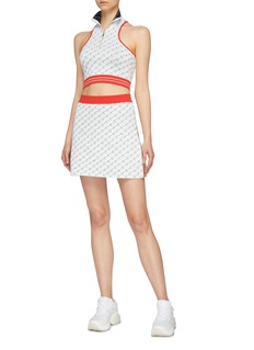 Stella McCartney Monogram embroidered knit skirt