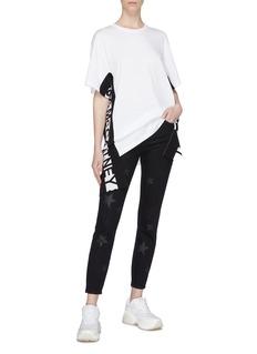 Stella McCartney Logo sash drape outseam T-shirt