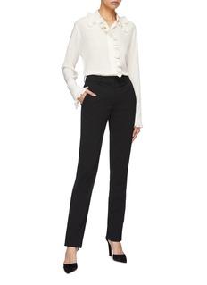 Stella McCartney Ruffle trim silk crepe shirt