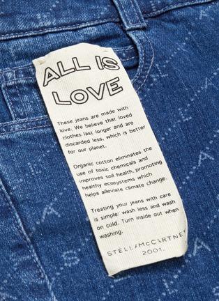 - STELLA MCCARTNEY - Monogram print cropped flared jeans