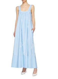Stella McCartney Broderie anglaise ruched sleeveless dress