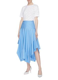 Stella McCartney Ruffle satin skirt