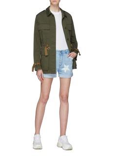 Stella McCartney Star print denim shorts