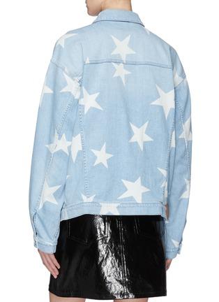 Back View - Click To Enlarge - Stella McCartney - Star print boyfriend denim jacket