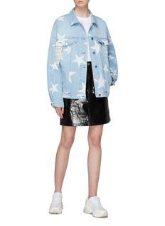 Stella McCartney Star print boyfriend denim jacket