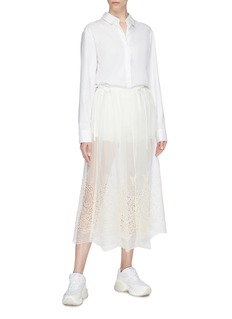 Stella McCartney Shorts inlay broderie anglaise skirt