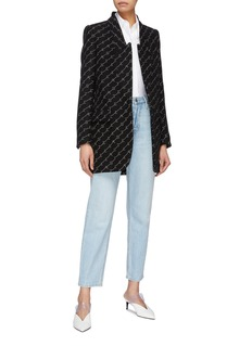 Stella McCartney Monogram embroidered wool blend coat