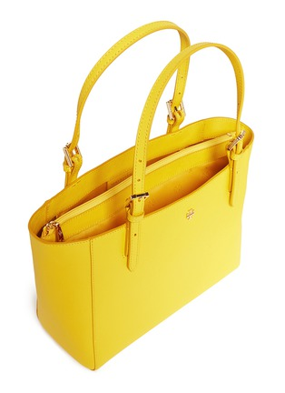 Detail View - Click To Enlarge - Tory Burch - 'York' small leather buckle tote