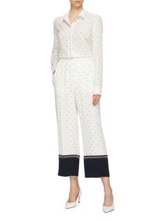 Stella McCartney Stud cuff ditzy print pyjama pants