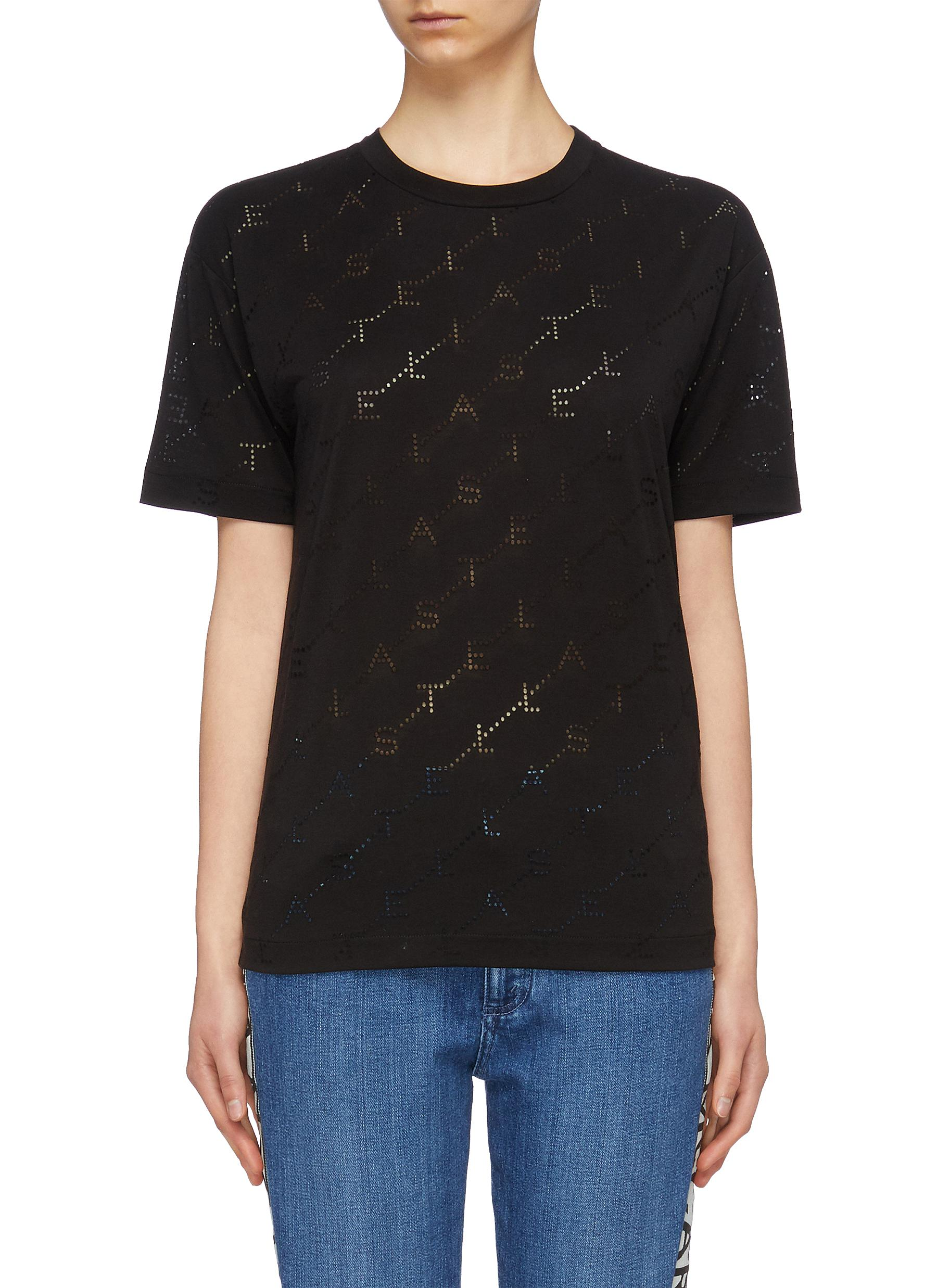 Cutout monogram T-shirt by Stella Mccartney