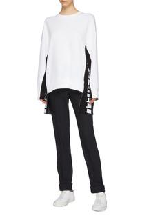 Stella McCartney Logo stripe outseam oversized sweatshirt