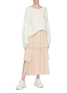 Stella McCartney Tiered silk skirt