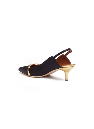 - Malone Souliers - 'Marion Luwolt' satin slingback pumps