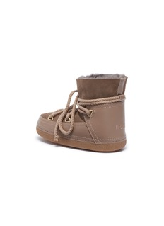 INUIKII Kids 'Classic' shearling toddler lace-up sneaker boots