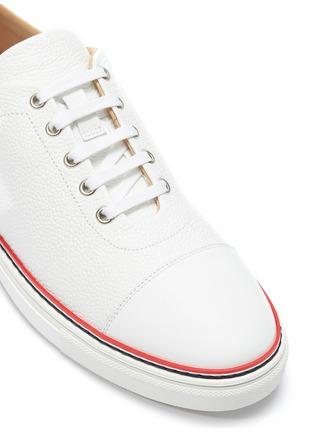 - THOM BROWNE - Pebble grain leather sneakers