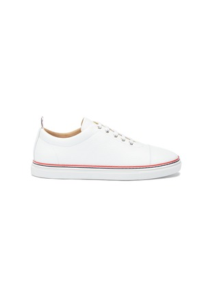 Main View - Click To Enlarge - Thom Browne - Pebble grain leather sneakers