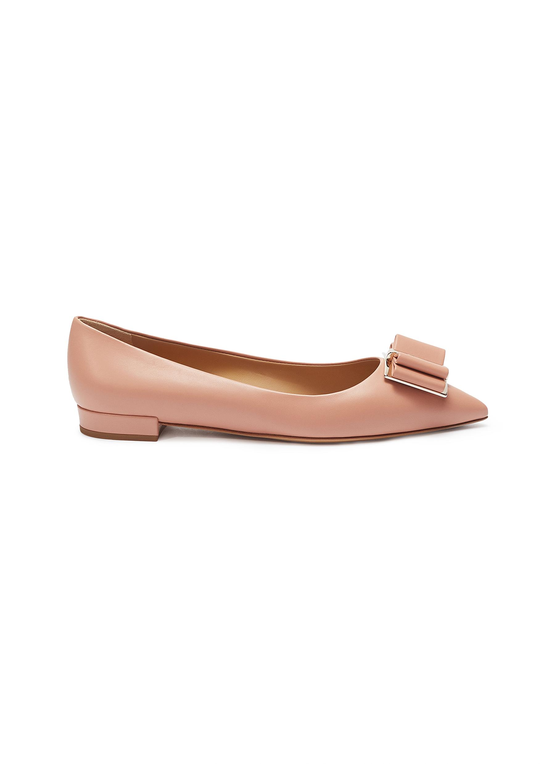 0ead9440345 Main View - Click To Enlarge - Salvatore Ferragamo -  Zeri  leather skimmer  flats