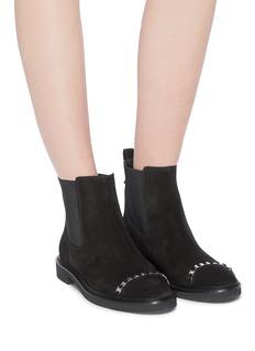 Salvatore Ferragamo 'Lario' Vara chain suede Chelsea boots