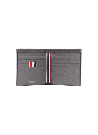 Figure View - Click To Enlarge - THOM BROWNE - Stripe pebble grain leather bifold wallet