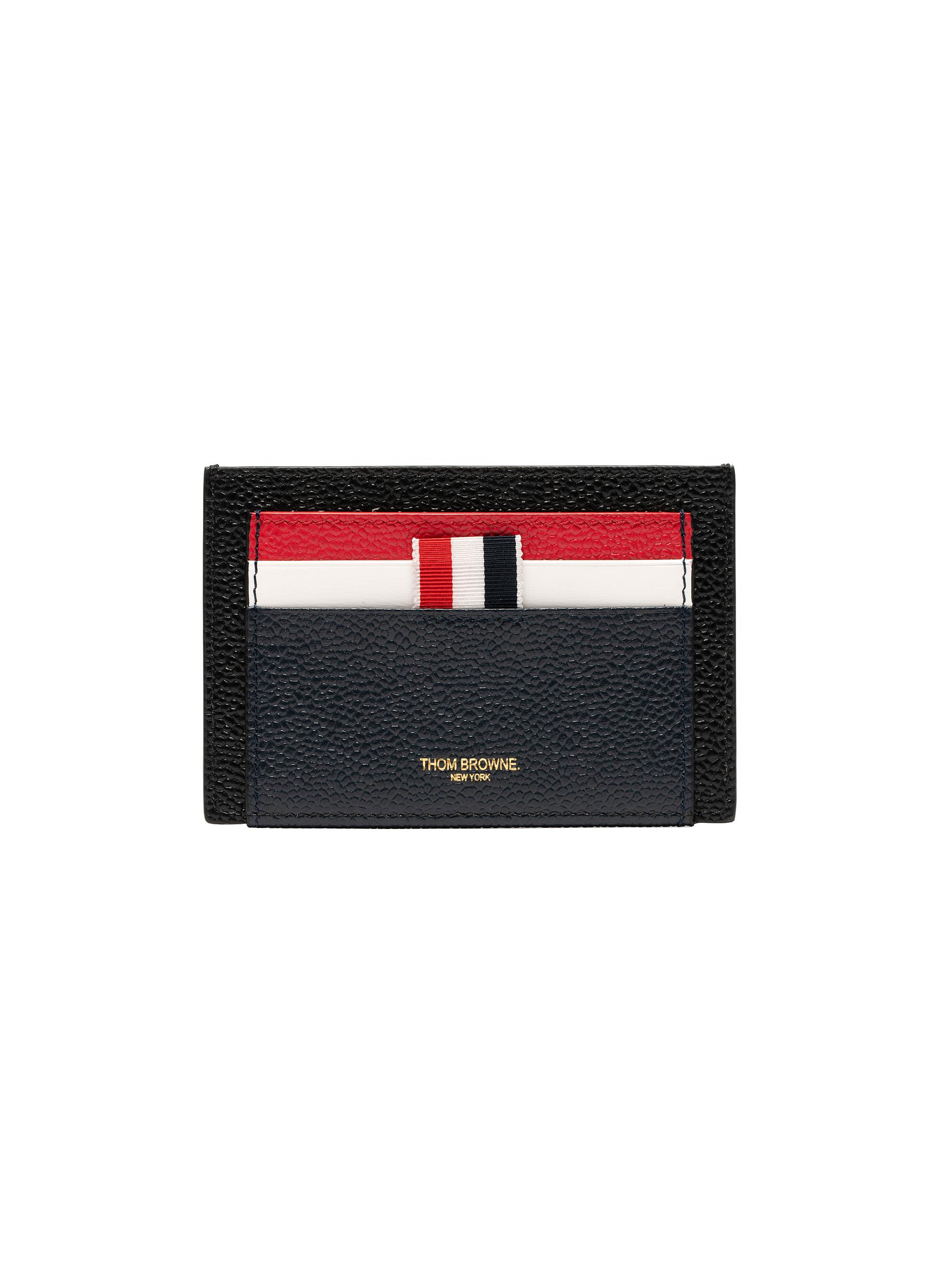 9aaa02695c Main View - Click To Enlarge - THOM BROWNE - Colourblock pebble grain  leather card holder
