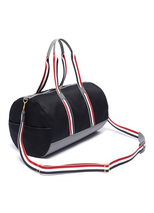 Detail View - Click To Enlarge - Thom Browne - Stripe strap duffel bag