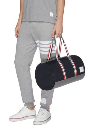 Figure View - Click To Enlarge - Thom Browne - Stripe strap duffel bag