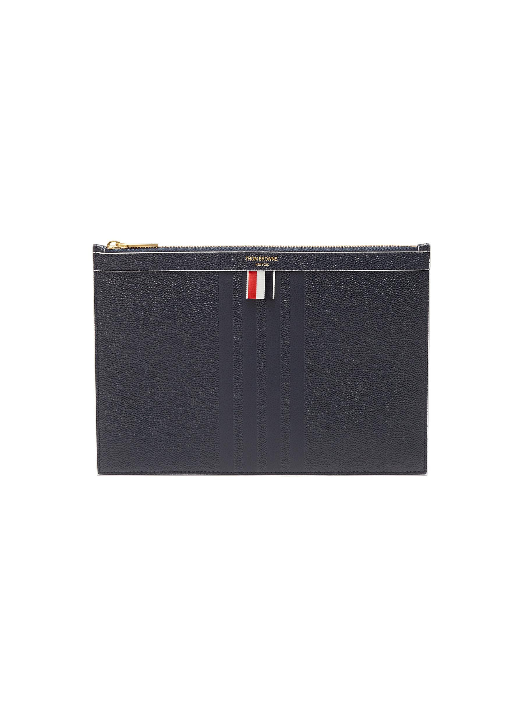b9608dc4fa Main View - Click To Enlarge - THOM BROWNE - Stripe pebble grain leather  tablet holder