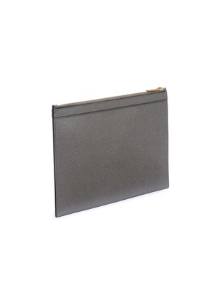 Detail View - Click To Enlarge - Thom Browne - Stripe small pebble grain leather tablet holder