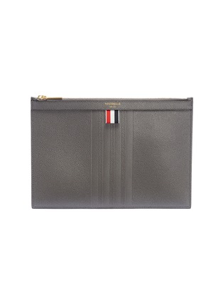 Main View - Click To Enlarge - Thom Browne - Stripe small pebble grain leather tablet holder