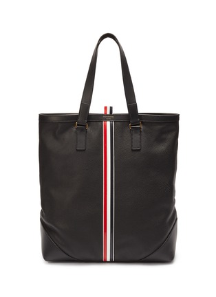 279564d05390 Thom Browne Stripe leather tote