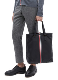 Thom Browne Stripe leather tote